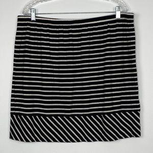 Merona Black and White Striped Skirt Plus Size